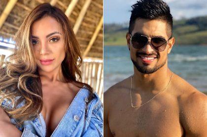 Melany Flórez y Juan David Aldana, concursantes de 'Guerreros'.