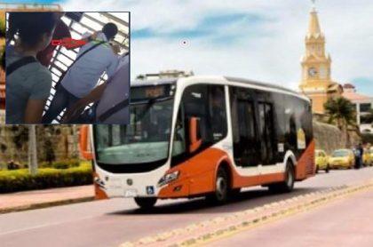 Hombre eyacula sobre joven en bus de Transcaribe