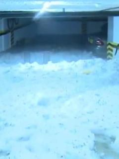 Imagen de uno de los conjunto atrapados por el hielo