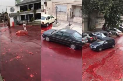 Río de sangre en Morón, Argentina