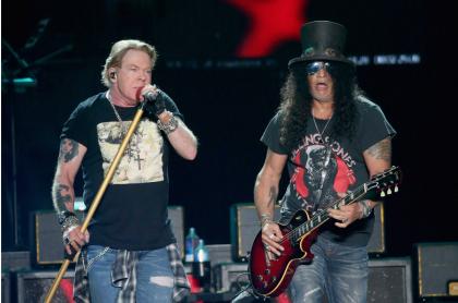 Axl Rose y Slash, de Guns N' Roses
