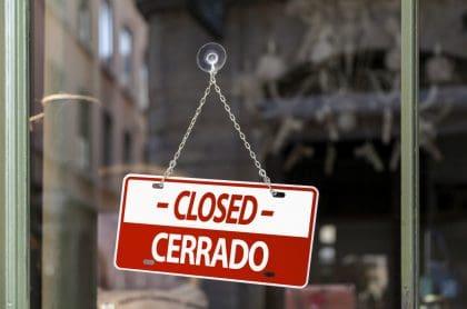 Aviso de cerrado