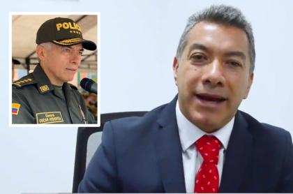 General Óscar Atehortúa y William Muñoz