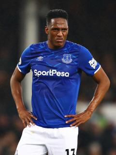 Imagen de Yerry Mina con el Everton
