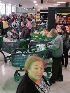 Supermercados en medio de coronavirus.