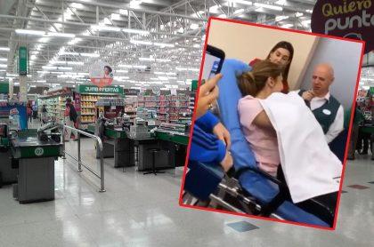 Mujer dio a luz en una tienda Jumbo de Bogotá