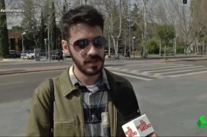 Joven opina sobre cuarentena en España.