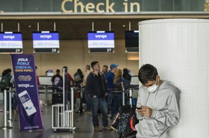 Aeropuerto en medio de crisis por coronavirus.