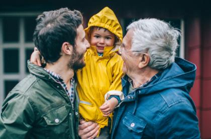 Abuelo,papá e hijo cumplen el mismo día