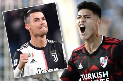 Cristiano Ronaldo y Jorge Carrascal