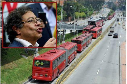 Gustavo Petro y buses de Transmilenio