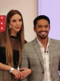 Violeta Bergonzi y Ronald Mayorga, presentadores.