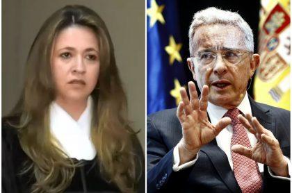 Cristina Lombana y Álvaro Uribe