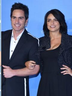 Sandra Echeverría, Mauricio Ochmann y Aislinn Derbez, actores.
