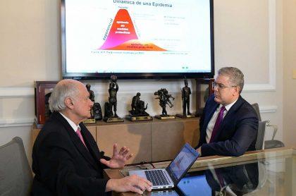 Manuel Elkin Patarroyo e Iván Duque