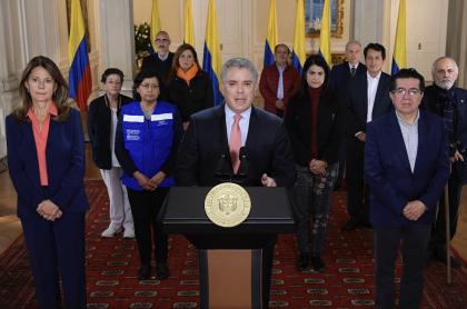 Presidente Iván Duque anuncia cuarentena obligada por pandemia de coronavirus COVID-19