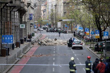 Calle del centro de Zagreb, Croacia, tras terremoto de este 22 de marzo