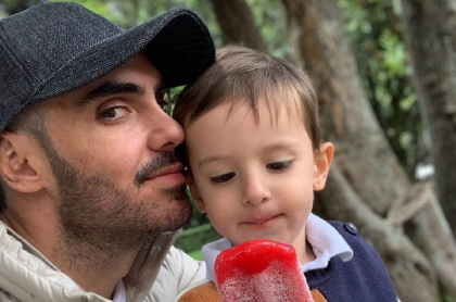 Lincoln Palomeque y su hijo Matías