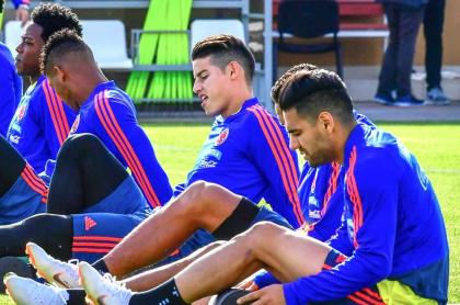 Selección Colombia, James Rodríguez y Falcao García