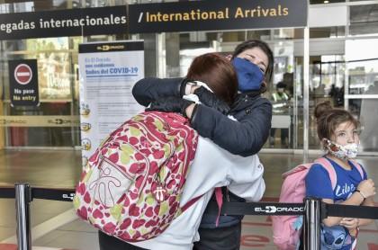Colombianos llegan a Bogotá en medio de la pandemia de coronavirus COVID-19