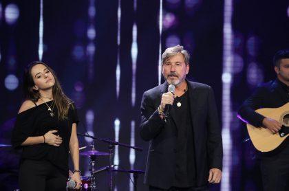 Ricardo Montaner y su hija Evaluna, cantantes.