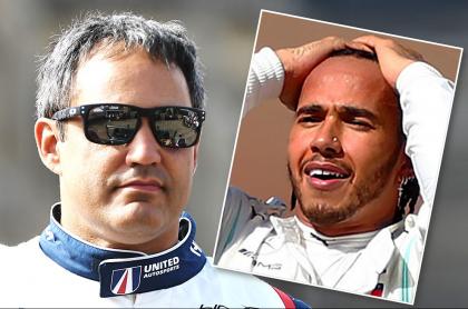 Juan Pablo Montoya y Lewis Hamilton