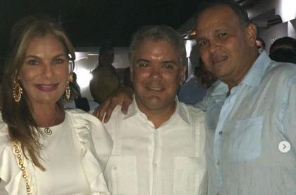 María Mónica Urbina, Iván Duque y 'Ñeñe' Hernández