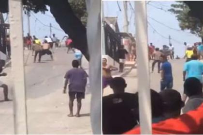 Pelea de jóvenes en cuarentena en Barranquilla
