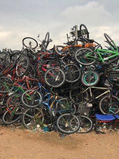Bicicletas abandonadas en Bogotá,