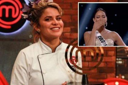 Adriana Lucía en MasterChef Celebrity 2020 / Andrea Tovar en Miss Universo 2016