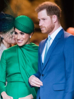 Donald Trump / Meghan Markle y el príncipe Harry