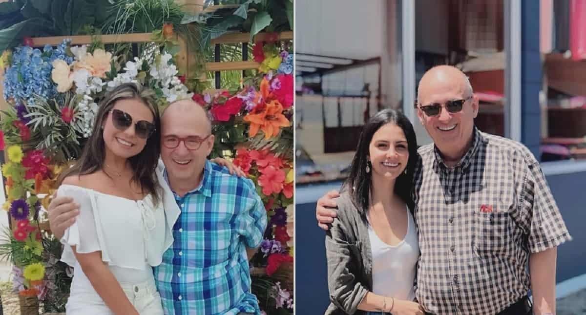 Jota Mario Valencia, presentador (Q.E.P.D.), con su esposa, 'Neth' Fuentes, y su hija, María José.