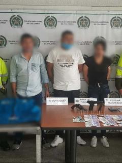 Banda capturada por robar viviendas en cuarentena