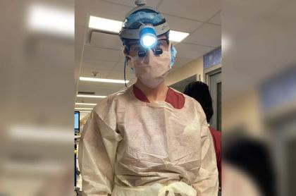Doctora durante coronavirus.
