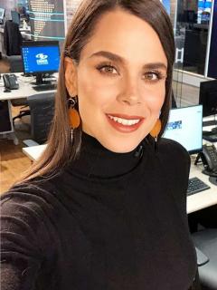 Andreina Solórzano, presentadora.