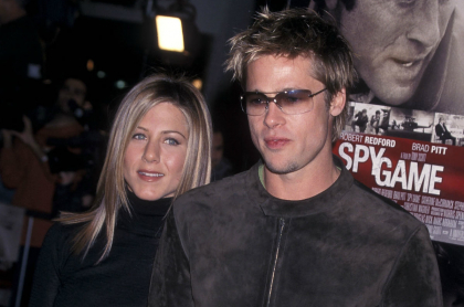 Jennifer Aniston y Brad Pitt en 2001