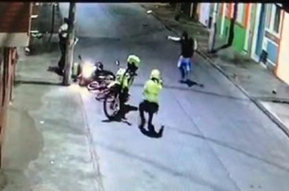 Video de ataque a policías