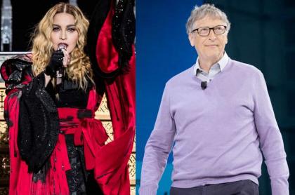 Madonna y Bill Gates