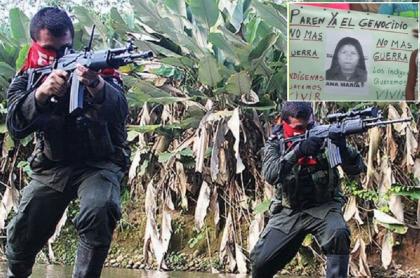 Guerrilleros del Eln / Indígenas embera