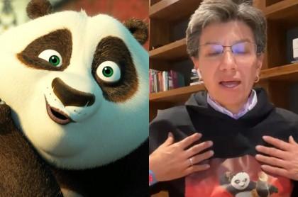 Claudia López y Kung Fu Panda