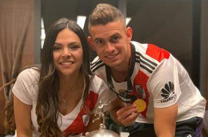 Rafael Santos Borré y su esposa