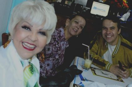 'La Gorda Fabiola', humorista, con su esposo y colega Nelson Polanía, 'Polilla', y la actriz Lucero Gómez.