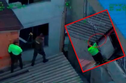 Policías en captura de ladrones