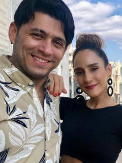 Santiago Alarcón y 'Chichila' Navia, actores.
