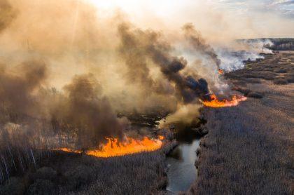 Incendio en Chernóbil.