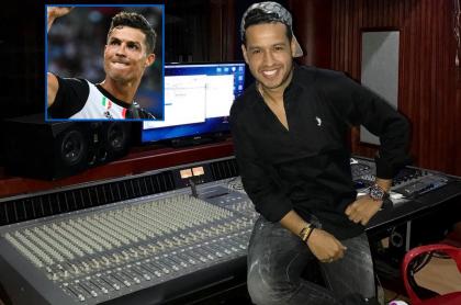 Cristiano Ronaldo, futbolista, y Martín Elías, cantante (Q.E.P.D.).