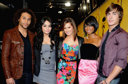 Corbin Bleu, Vanessa Hudgens, Ashley Tisdale, Monique Coleman y Zac Efron, elenco de 'High school musical'