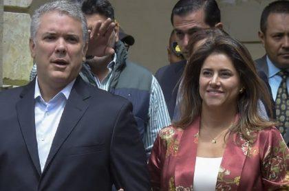 Iván Duque y la Primera Dama, María Juliana Ruíz