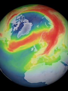 Agujero en la capa de ozono durante la pandemia de COVID-19