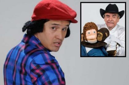 Hassam, humorista, y Carlos Donoso, ventrílocuo.